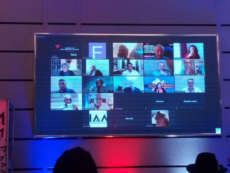 Top IAA Executives joining the ceremony via Zoom