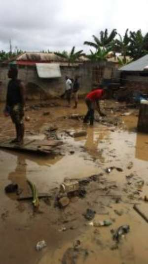 Heavy Rains Displaced About 300 People In Assin Fosu