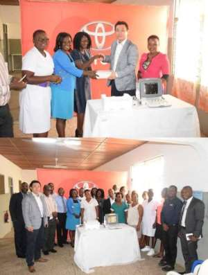 Kpone Health Centre Receives Support From Toyota Ghana