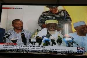 Owusu Bempah Thanks Chief Imam for Maintaining Peace