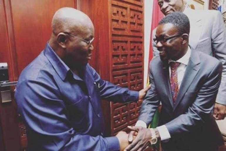President Akufo-Addo exchanging pleasantries with NAM1