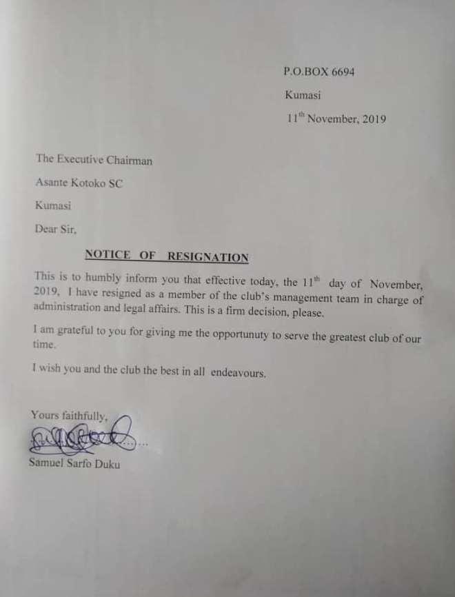 Breaking: Lawyer Duku Resigns From Kotoko