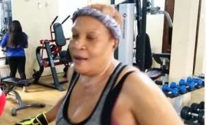 55 Year Old Nollywood actress, Ngozi Nwosu Hits the Gym to Keep Fit
