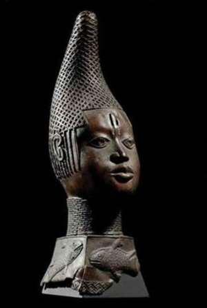 Queen-mother Idia, Benin, Nigeria, now in Humboldt Forum, Berlin, Germany.