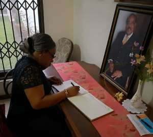 Foreign Affairs Minister Commiserates With Family Of Late Aggrey-Orleans