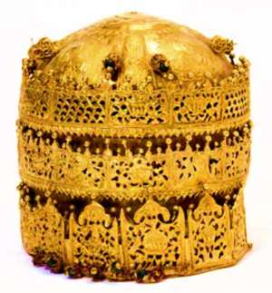 Crown of Tewodros II, Ethiopia, now in Victoria and Albert Museum, London