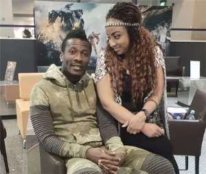Asamoah Gyan and wife