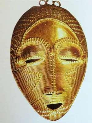 Face pendant, Baule, Côte d'Ivoire, now in Musée du quai Branly, Paris, France.