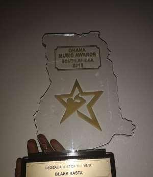 """Blakk Rasta Wins """"Reggae Artiste of the Year"""" Ghana Music Awards South Africa 2018."""