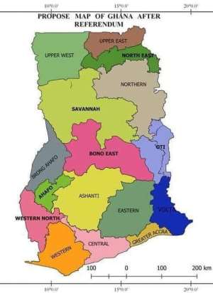 Ghana now has 16 administrative regions