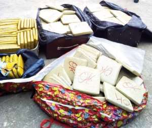 The 193 parcels of wee seized