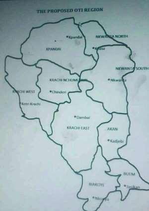 Proposed Oti Region