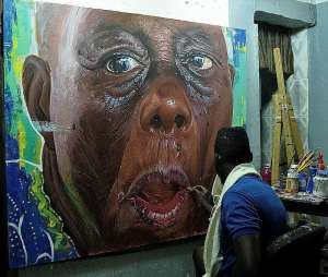 Celebrated Ghanaian Artist Kwesi Botchway In Denmark To Exhibit His Paintings