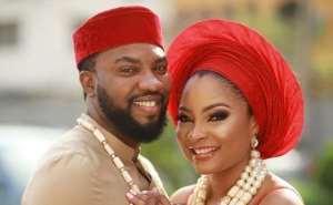Stunning Wedding Photos of Actress, Linda Ejiofor with Lover