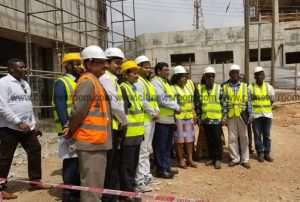 Ayorkor Botchwey Inspects Construction Works on Foreign Service Institute