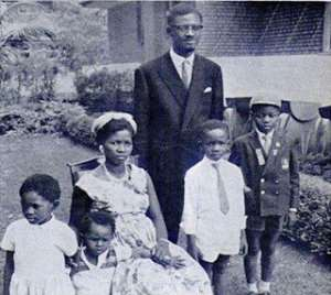 Patrice Lumumba and his family before his brutal murder