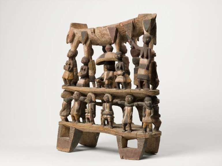 King's seat,Dahomey,now in musée du Quai Branly,to be returned to Benin Republic.