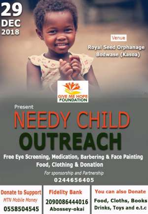 Give Me Hope Foundation Ready For Its December Mega Program: Needy Child Outreach