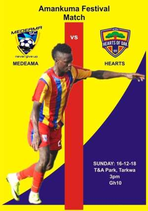 Hearts Confirm Festival Match With Medeama SC