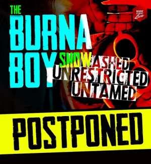 Promoters of Burna Boy's Concert Cancel Show