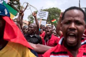 Ghanaian Demonstrators Against Setting Up Of The US Military Base - Thank You