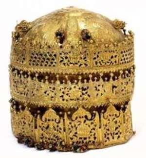 Crown of Tewodros II, Maqdala, Ethiopia, now in Victoria and Albert Museum, London.