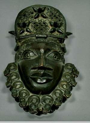 Pendant mask, Benin, Nigeria, now in Pitt Rivers Museum, Oxford, United Kingdom.