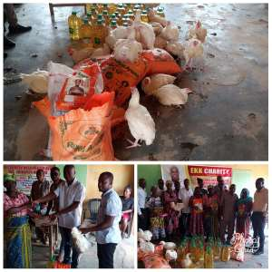 E.K.K Charity Foundation Donates Fetes 50 Widows In Sunyani