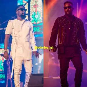 PHOTO: 3 times Sarkodie changed his outfit at the Rapperholic concert 2018