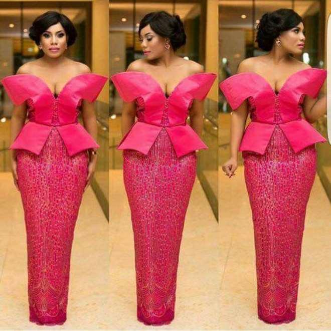 Pink flattering dress