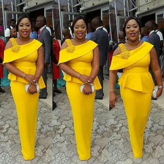 Yellow long dress