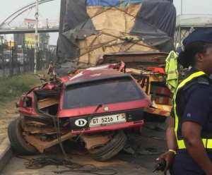 Two killed in a Car Crash at KNUST Junction – Kumasi