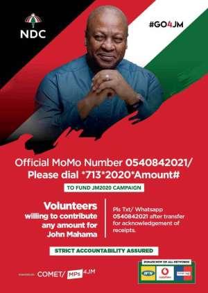 John Mahama launches short code to raise GhC420k filing fee