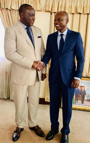 AFC President and C.E.O Samaila Zubairu Meeting with the Togolese Minister of Foreign Affairs Robert Dussey