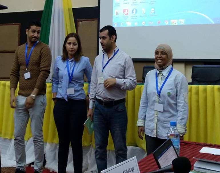 Photo credit : Peter kuria .The Northern Africa Executive (<em>From Left Mahfoud Bousta, IR Emma Jelassi, Nader M. H. Elkhouly and Amira Mahmoud)</em>