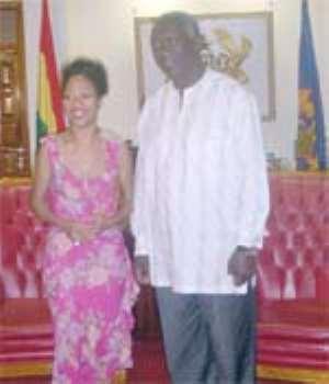 Kwame Nkrumah's Girl Visits Kufuor