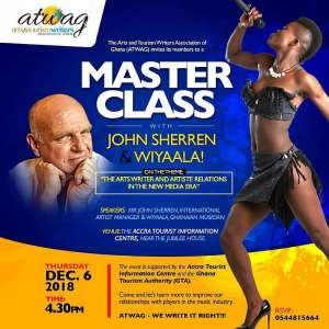 ATWAG to engage Wiyaala, Manager in master class