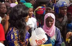 How Ghanaian Actress, Jackie Appiah Celebrated Birthday with Market Women