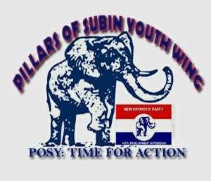 Pillars Of Subin Youth Wing Celebrates  Subin Polling Station Executives