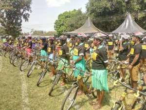Brong Ahafo: African Bicycle Contribution Foundation Distributes Its 340th Free Bamboo Bicycle