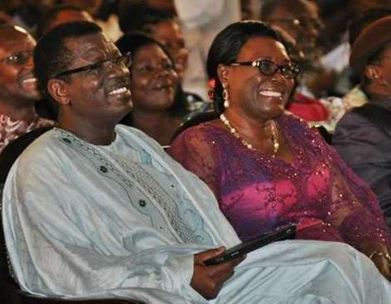 12 pastor otabil and his spouse joy during greater works in the auditorium of christ temple