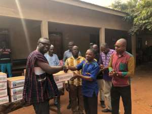 Samira Foundation Donates Hand Sanitizers To Tuobodom SHS