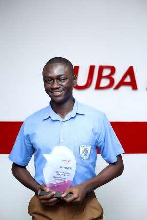 Winner of 2018 NEC, Ariff Abdul Sabit of Presec