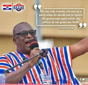 Alhaji Short Congratulates NPP For A Successful Polliing Station And Electoral Area Elections