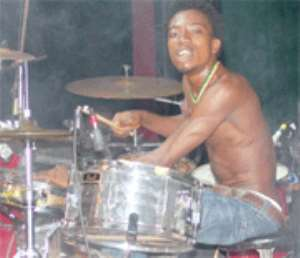 On Drums... Paa Kow!