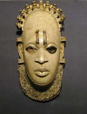 Queen-Mother Idia, Benin, Nigeria, in captivity in British Museum, London, since the infamous invasion of Benin in 1897.