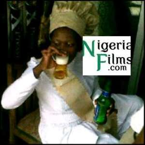 FUNNY PICTURE: Prophetess Caught Drinking Beer