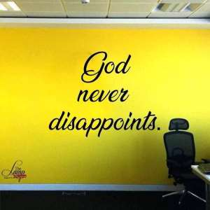 WordDigest: God Never Disappoints