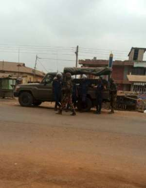 Military Police Beefs Up Security At Ahwiaa