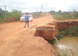 Atwima Kwanwoma: Boko-Techiman Road Now Death Trap, Residents Cry For Help